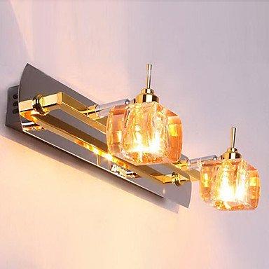 ampoule de cristal inclus lampe de mur de salle de bains, 2 clair, cognac mšŠtallique moderne galvanoplastie