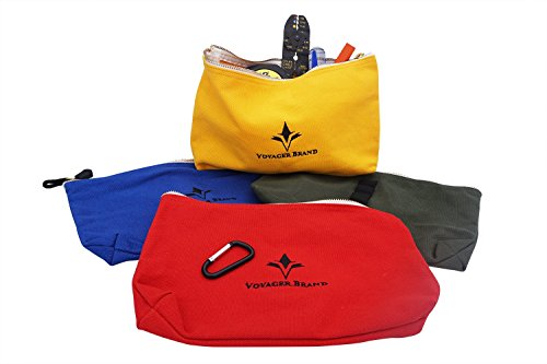Set of 4 - Canvas Zipper Tool Bag and Parts Organizer by Voyager Brand (Field Service Engineer Tool Kit compare prices)