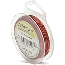 Artistic Wire 20-Gauge Red Wire, 15-Yards