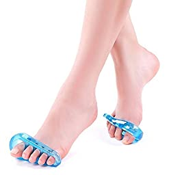 Gel Flex Toe Separators by NONPAREIL - Fight Bunion Pain, Hammertoe & Other Foot Aches (SM/SOFT)