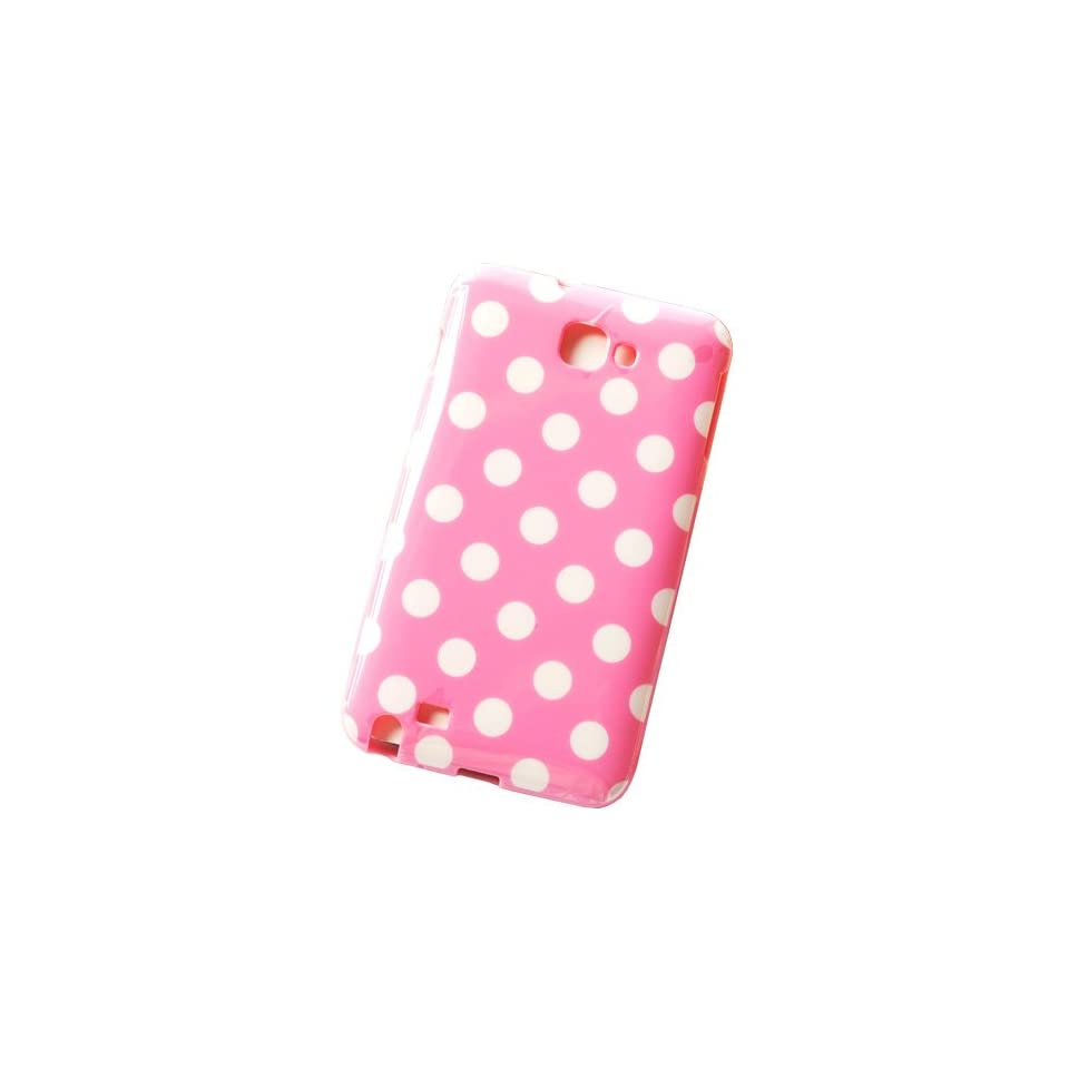 Huaqiang3c® FREE USPS SHIPPING Pink Polka Dots Soft TPU Case Cover for Samsung Galaxy Note GT N7000 SGH I717 I9220