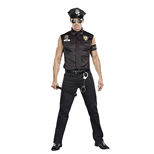 Mens 8817 Dirty Cop Officer Ed Banger Cosplay Costumes