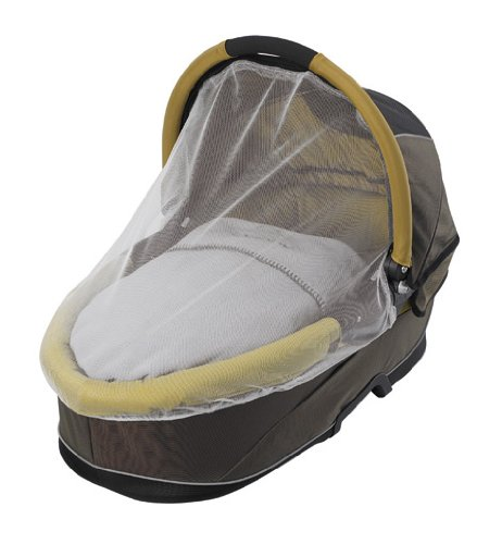 Imagen 3 de Quinny 64803050 Speedi - Capazo para sillas de paseo, incluye colchón, manta, mosquitera y protector para la lluvia, color marrón y ocre