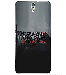 PRINTSWAG TEXT QUOTE Designer Back Cover Case for SONY XPERIA C5