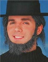 Deluxe Grey Colonial Settler Pilgrim Amish Costume Beard