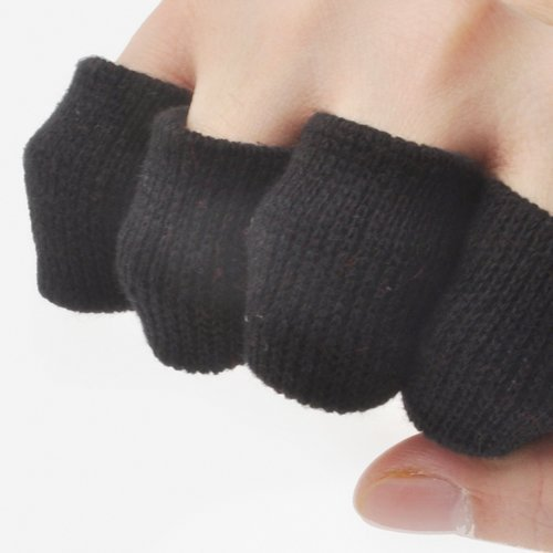 GOGO™ Thick Solid Color Finger Supports, Finger Sleeves (Price for 10 PIECES) - Black