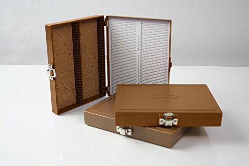 100Pc Microscope Slide Storage Box, Old Gold
