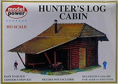 Model Power HO Scale Building Kit - Hunter's Log Cabin