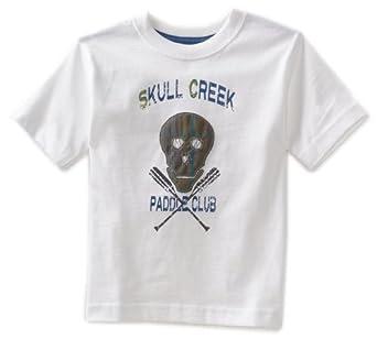 Kitestrings Little Boys' Toddler Jersey Plaid Skull Short Sleeve Tee, White, 2T