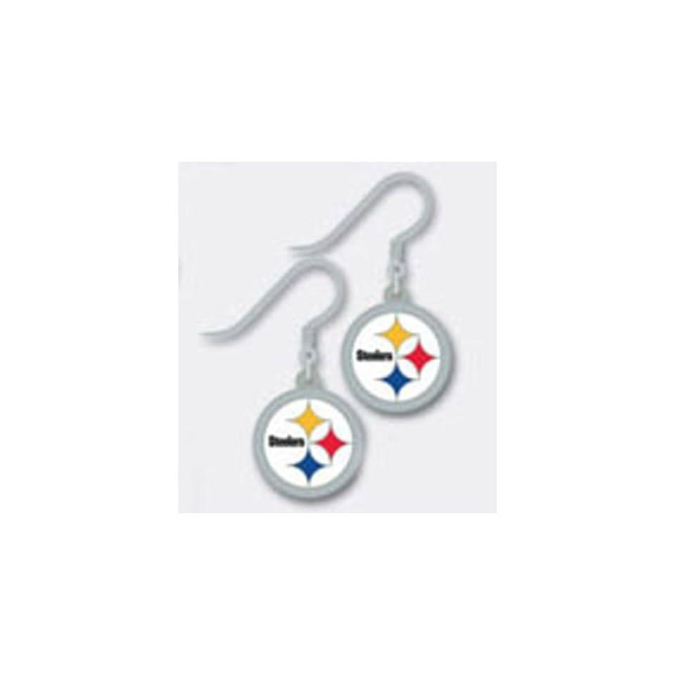 f5de7b8ea4afa3 Pittsburgh Steelers Logo J hook Earrings Sports on PopScreen