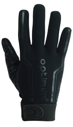 Optimum Boy's Velocity Thermal Rugby Gloves - Plain Black, X-Small