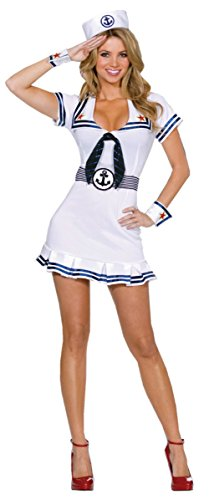 Dreamgirl Womens Cruise Cutie Sailor Nautical Outfit Fancy Dress Sexy Costume
