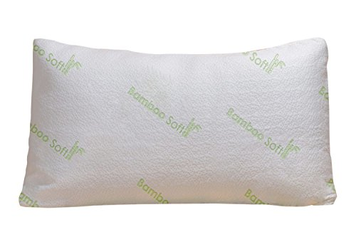 Bamboo Soft Poly Fill Pillow - Bamboo Pillow With Shredded Down Alternative and Stay Cool Cover (How Many Days Is Standard Shipping)