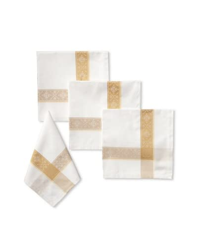 Garnier-Thiebaut Set of 4 Imperatrice Napkins, Gold