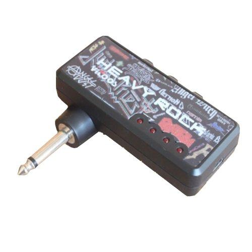 Portable Headphone Heavy Rock Rechargable Guitar Amplug Mini Amp Mp3 Usb Charge