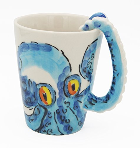 Hand-painted Ceramic Octopus Mug