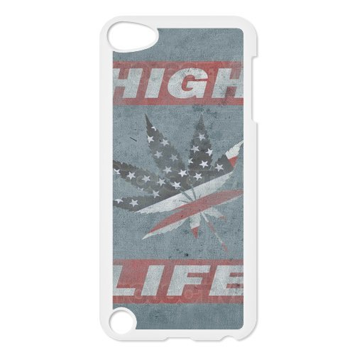 Generic Mobile Phone Cases Cover For Apple Ipod Touch 5 Case Country American Flag Marijuana Cannabis Weed Hemp Leaf Smoker Design Custom Made Hard Snap On Cell Phones Shell Protect Skin