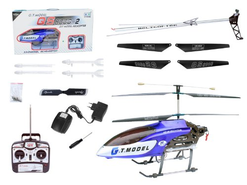 53 Inch Extra Large GT QS8006 2 Speed 3.5 Ch RC Helicopter Builtin GYRO Blue by Avatar (Outdoor Helicopter compare prices)