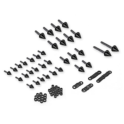 Custom Black Spike Motor Parts Fairing Bolt Nuts Screws Fastener Fit For 2003-2004 Suzuki Hayabusa GSXR 1300 injection molding custom for 2005 suzuki gsxr 1000 fairings k5 2006 gsxr 1000 fairing 05 06 glossy black flat gray dw16