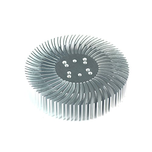 5Pcs 3.5X0.8Inch Round Spiral Aluminum Alloy Heat Sink For 1W-10W Led Silver White