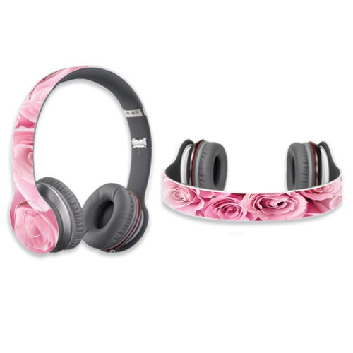 Mightyskins Protective Vinyl Skin Decal Cover For Dr. Dre Beats Solo Hd Headphones Sticker Skins Pink Roses