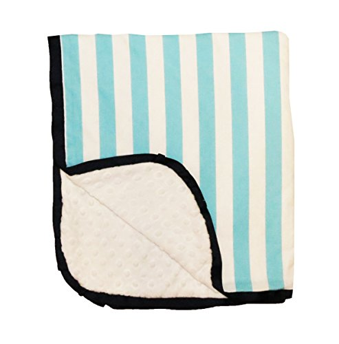 Caught Ya Lookin' Reversible Baby Blanket, Blue and White Stripe