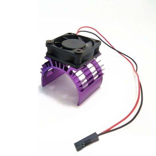 Hobbypower Alloy Heatsink W/ 5V Cooling Fan For 1/10 Car 540 3650 Size Motor Purple