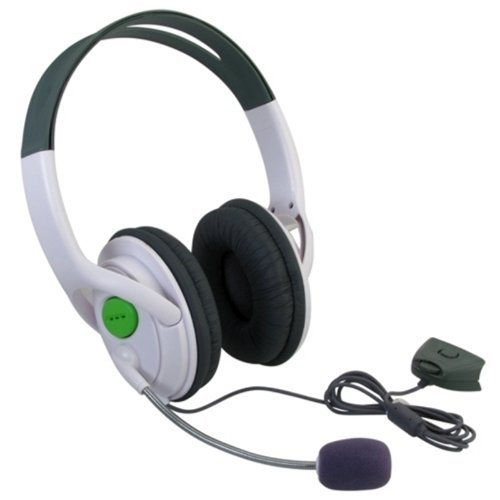 Mogoi(Tm) Wireless Controller Headset / Headphone With Mic For Xbox 360 -Gray And White With Mogoi Accessory Wire Winder