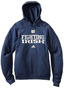 NCAA Notre Dame Fighting Irish Practice Stitch Pindot Pullover Hood by adidas