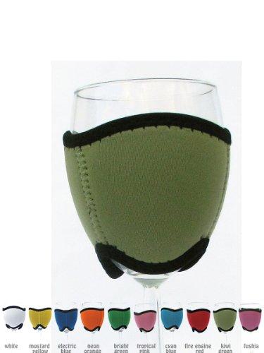 Dress Your Wine Glass Sleeve Insulator Holder Cooler Kiwi front-840648