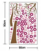 Hunnt® Wall-stickers Wall Decor Removable Decal Sticker - Giant Cherry Blossom Tree in Wind from Hunnt