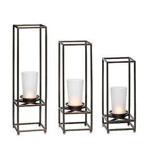 partylite framework pillar holder trio tealight candle holder kitchen home. Black Bedroom Furniture Sets. Home Design Ideas