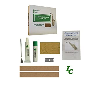 Instrument Clinic Saxophone Neck Cork Replacement Kit, Natural Cork