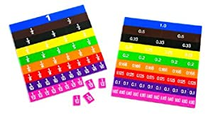 Learning Advantage 7673 Fraction and Decimal Tiles (Pack of 51)