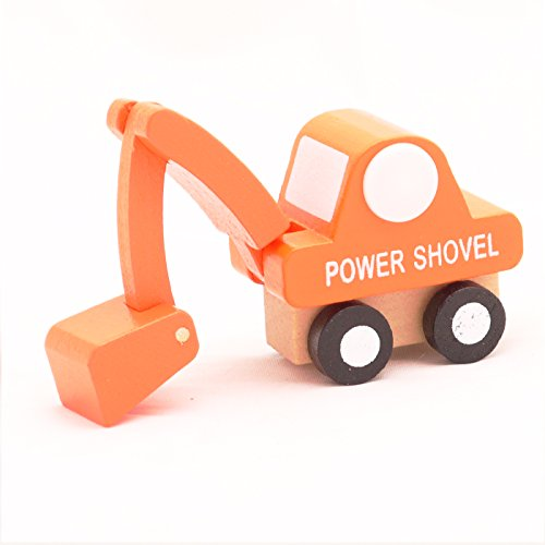 Mini Wooden Car Power Shovel,T00077