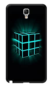 """Humor Gang Box Cube Glowing Printed Designer Mobile Back Cover For """"Samsung Galaxy Note 3"""" (3D, Glossy, Premium Quality Snap On Case)"""