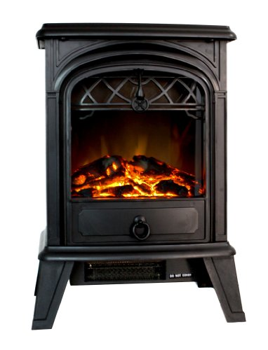 Standing Electric 1500W Fireplace Heater Fire Stove Flame Wood Log Decorate picture