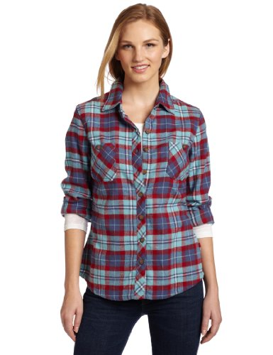 Best buy dickies women 39 s plaid flannel shirt teal slate for Where to buy cheap plaid shirts