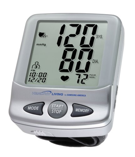 Cheap Samsung Healthy Living BWD-6007 Deluxe Wrist Blood Pressure Monitor with Irregular Heartbeat Detector (SMGBWD6007)