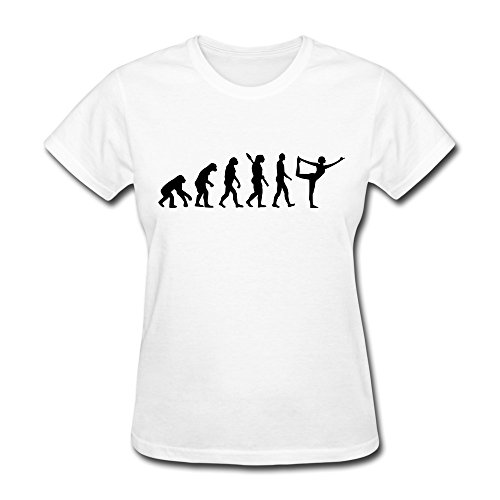 Womens Evolution Yoga Sport Round Neck Tshirt Size Xxl Color White