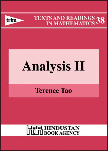 Analysis II (Texts and Readings in Mathematics, No. 38) (v. 2)