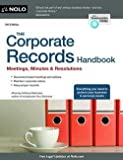 img - for The Corporate Records Handbook : Meetings, Minutes & Resolutions (Paperback)--by Anthony Mancuso [2013 Edition] book / textbook / text book