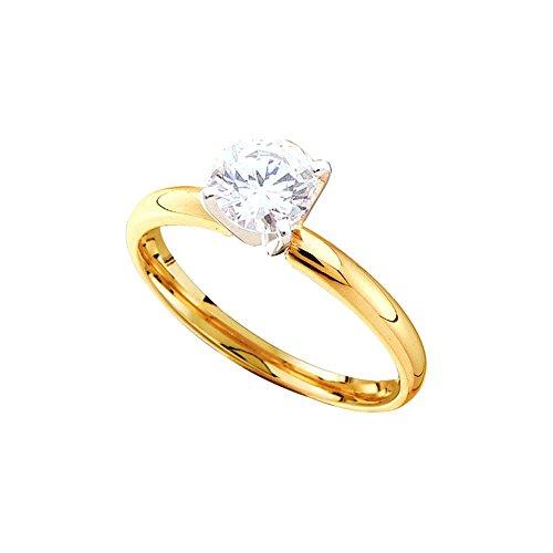 0.25CTW ROUND DIAMOND SOLITAIRE RING (EXE)