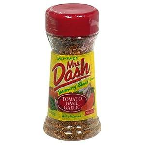 Mrs. Dash Seasoning Blend, Tomato, Basil, Garlic, 2-Ounce Shaker (Pack of 6)