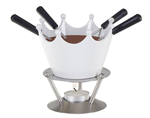 Nouvel TC16/14 7-Piece Fondue Set, White