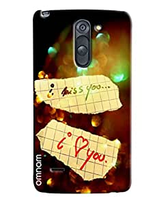 Omnam I Miss You And I Love You Printed Designer Back Cover Case For LG G3 Stylus