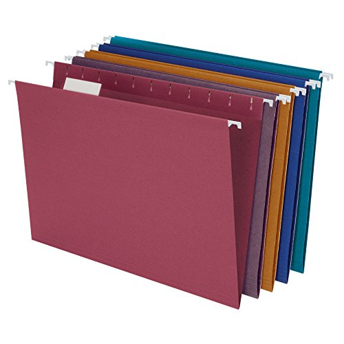 EarthWise by Pendaflex 100% Recycled Hanging Folders, Letter Size, 1/5 Cut, Assorted Colors, 20 per Box (35117) (Hanging File Folders Cabinet compare prices)