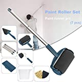 Seamless Paint Runner Pro Paint Roller Brush [Updated Version] with 10 Pcs Sandpaper(9x3.6 inch)- No Prep, No Mess. Simply Pour and Paint to Transform Any Wall or Surface in Just Minutes(7 Pcs)