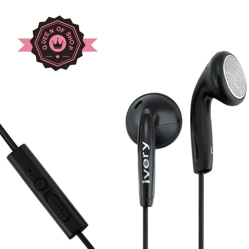 Wired Stereo Is2 Serious Sound Earbud 3.5Mm Universal Headset With In-Line Multi-Function Answer/Call Button (Black)