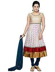 Roopali Creations Women's Chanderi Silk Salwar Suit Set - B013SVM8RU